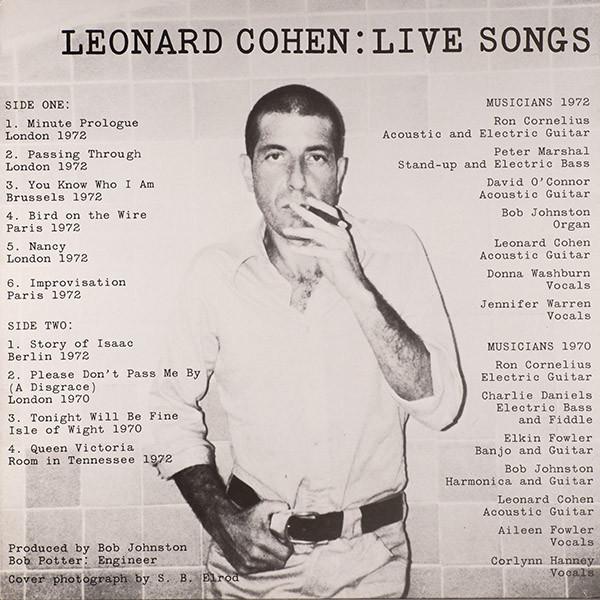 Leonard Cohen – Live Songs ( 180g )