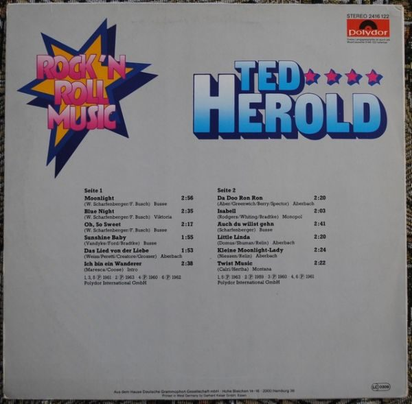 Ted Herold ‎– Rock'N Roll Music