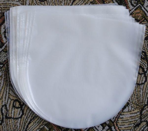 """Конверты внутренние, антистатические полукруглые 50 шт. для 7"""" дюймовых пластинок"""