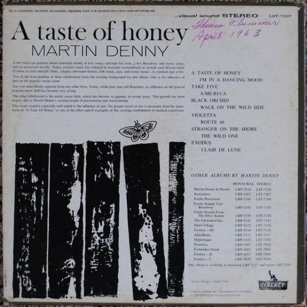 Martin Denny – A Taste Of Honey