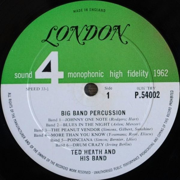 Ted Heath And His Music – Big Band Percussion