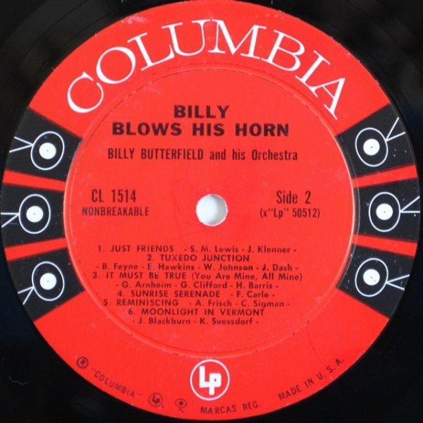Billy Butterfield And His Orchestra – Billy Blows His Horn