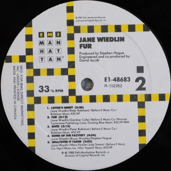 Jane Wiedlin ‎– Fur