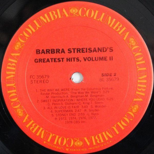 Barbra Streisand – Barbra Streisand's Greatest Hits - Volume 2