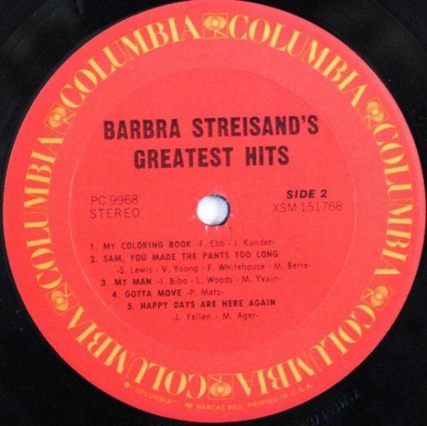 Barbra Streisand – Barbra Streisand's Greatest Hits