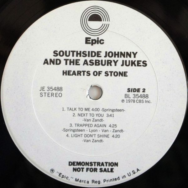 Southside Johnny & The Asbury Jukes – Hearts Of Stone (Autograph, Promo)
