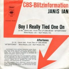 Janis Ian ‎– Boy I Really Tied One On 7""