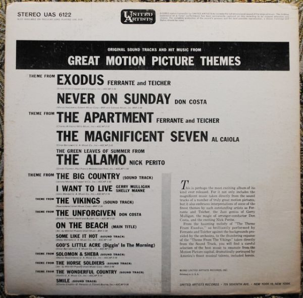 Various – Original Sound Tracks And Hit Music From Great Motion Picture Themes