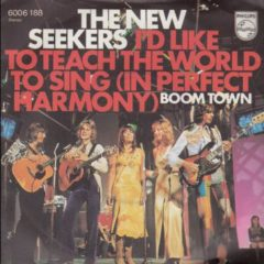 New Seekers ‎– I'd Like To Teach The World To Sing (In Perfect Harmony) 7""