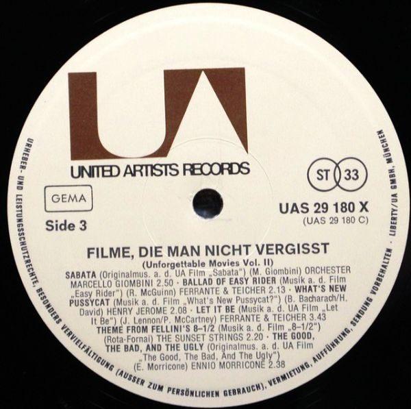 Various – Filme, Die Man Nicht Vergisst - Unforgettable Movies Vol.2 (2 LP)