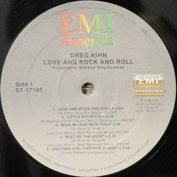 Greg Kihn – Love And Rock And Roll
