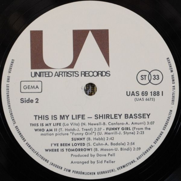 Shirley Bassey – This Is My Life