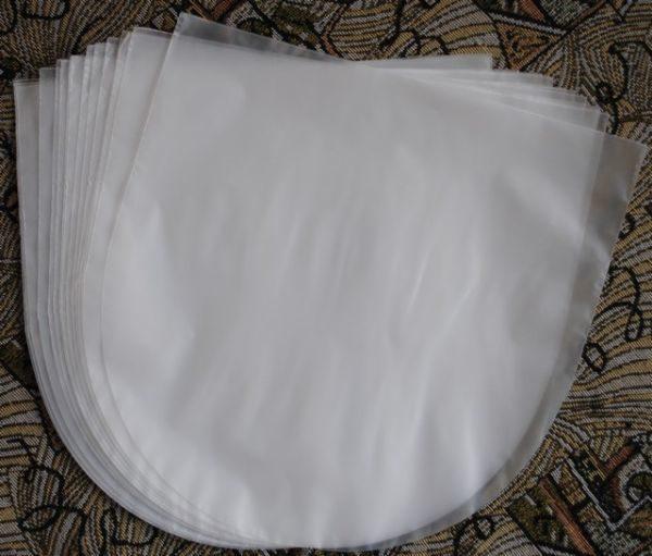 """Конверты внутренние, антистатические полукруглые 25 шт. для 12"""" дюймовых пластинок"""