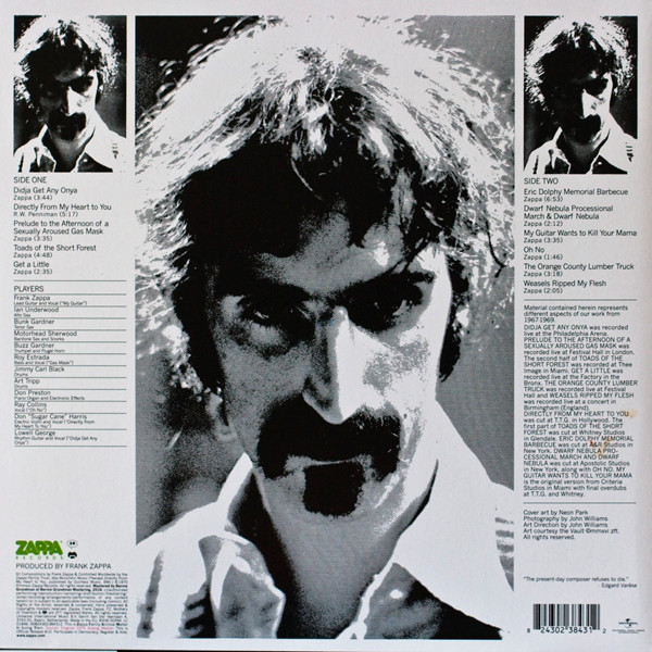 Frank Zappa And Mothers Of Invention – Weasels Ripped My Flesh