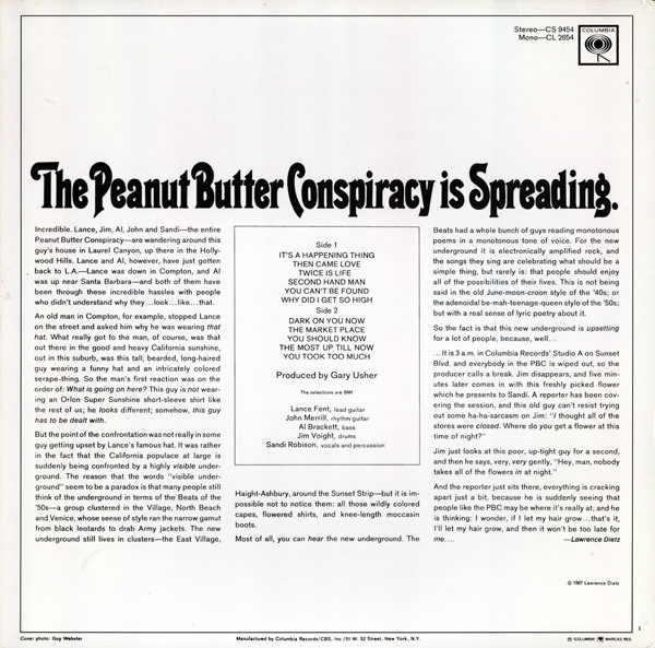 Peanut Butter Conspiracy – Is Spreading