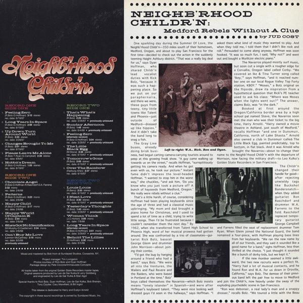 Neighb'rhood Childr'n – Long Years In Space ( 2 LP, G/f. )