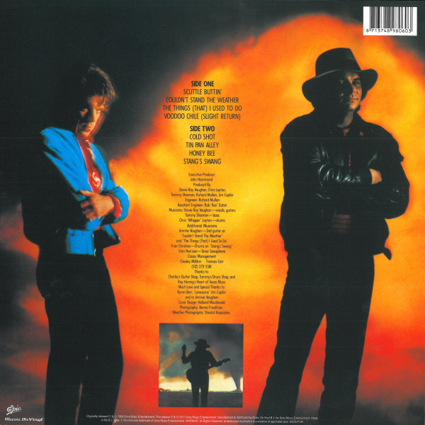 Stevie Ray Vaughan & Double Trouble – Couldn't Stand The Weather ( 2 LP, 180g )