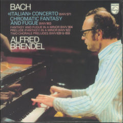 Bach, Alfred Brendel ‎– <<Italian>> Concerto BWV 971 / Chromatic Fantasy And Fugue BWV 903 ( 180g )