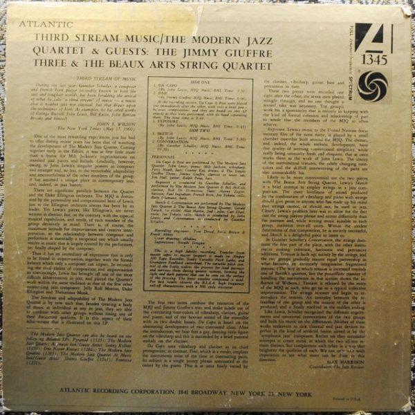 Modern Jazz Quartet – Third Stream Music