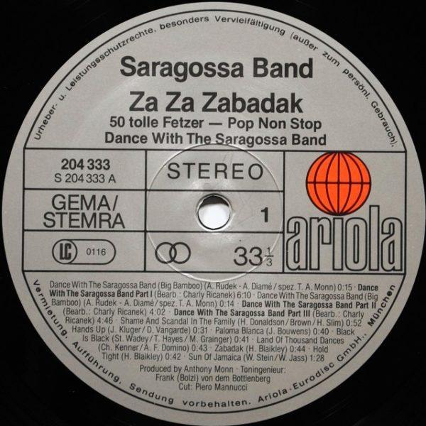 Saragossa Band – Za Za Zabadak - 50 Tolle Fetzer - Pop Non Stop - Dance With The Saragossa Band