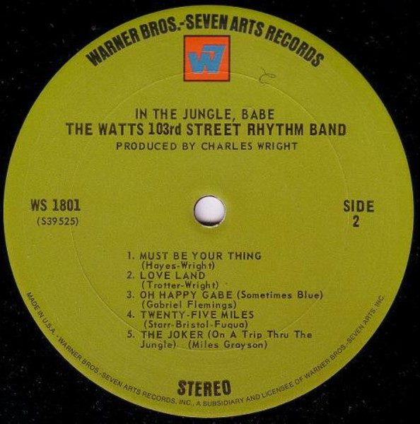 Watts 103rd St Rhythm Band ‎– In The Jungle, Babe