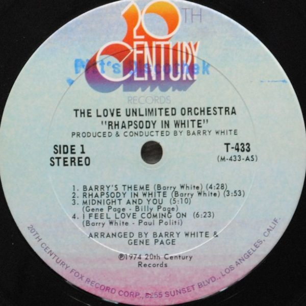 Love Unlimited Orchestra – Rhapsody In White