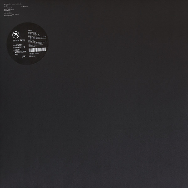 Aphex Twin – Computer Controlled Acoustic Instruments Pt2 (EP)