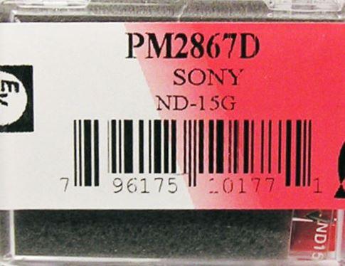 Игла для SONY ND15G ND-15G 25E XL15 ND25E XL-25E