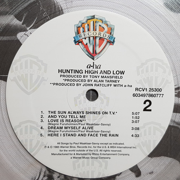 a-ha ‎– Hunting High And Low (Color Vinyl)