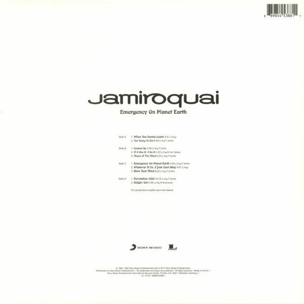 Jamiroquai ‎– Emergency On Planet Earth ( 2 LP )