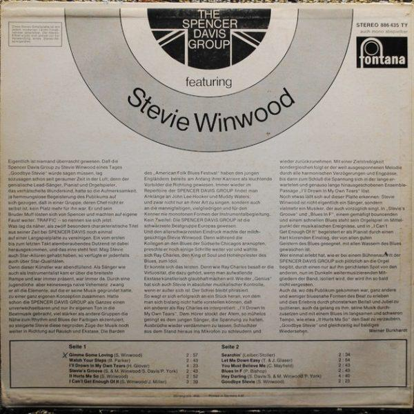 Spencer Davis Group ‎– Featuring Stevie Winwood