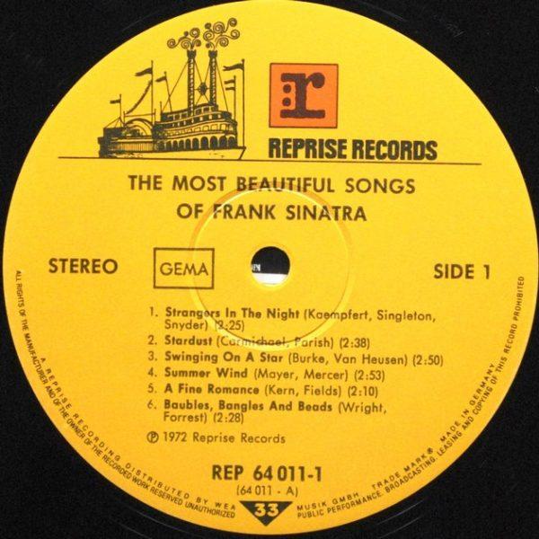 Frank Sinatra – The Most Beautiful Songs Of Frank Sinatra