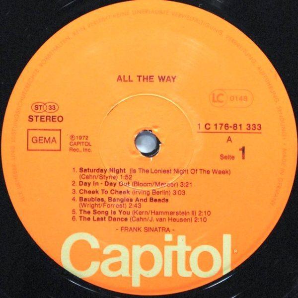 Frank Sinatra – All The Way (1972)