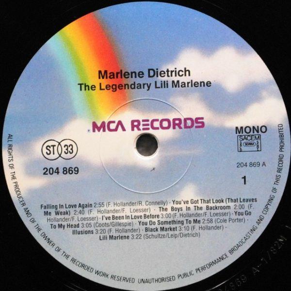 Marlene Dietrich – The Legendary, Lovely Marlene