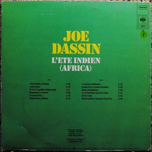 Joe Dassin – L'Ete Indien (Africa)