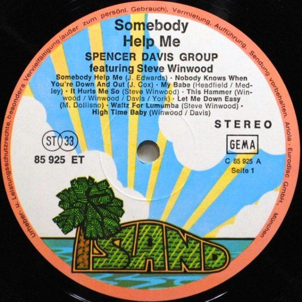Spencer Davis Group Featuring Steve Winwood – Somebody Help Me