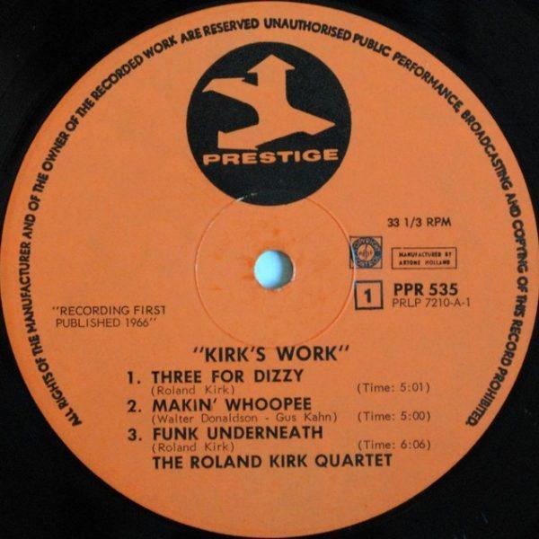 Roland Kirk Quartet Featuring Jack McDuff – Kirk's Work-Funk Underneath