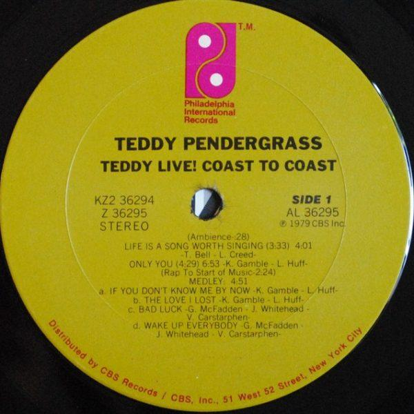 Teddy Pendergrass – Live! Coast To Coast