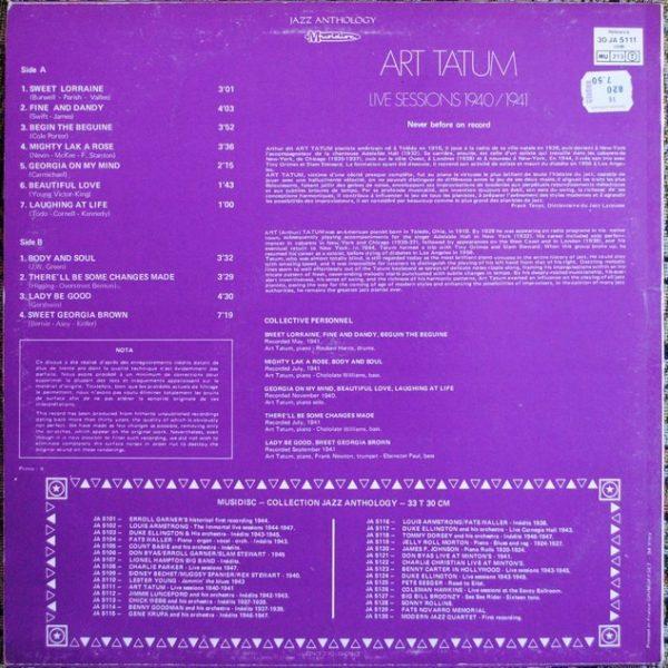Art Tatum – Live Sessions 1940 / 1941