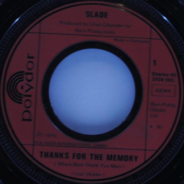 Slade – Thanks For The Memory (Wham Bam Thank You Mam)