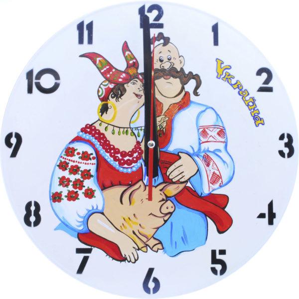 """Часы на белом виниле """"По украинским мотивам"""""""