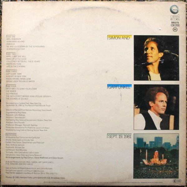 Simon And Garfunkel ‎– The Concert In Central Park