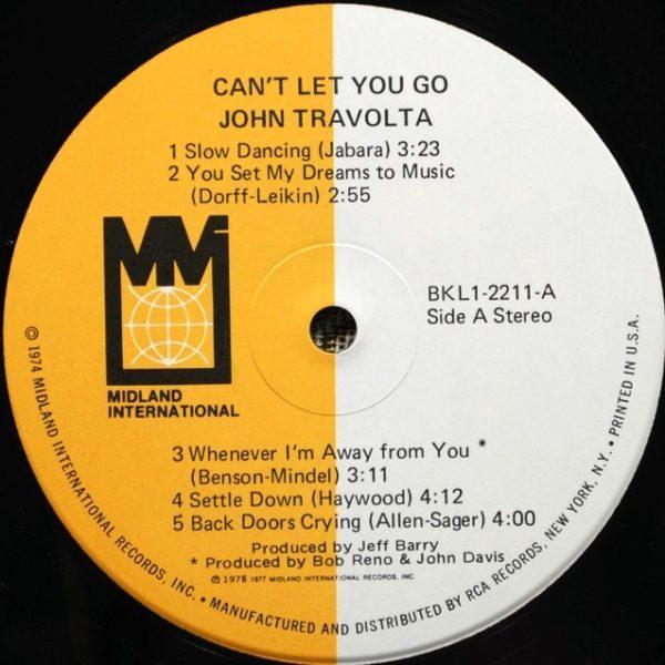 John Travolta – Can't Let You Go