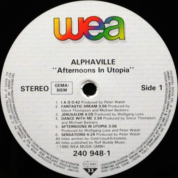 Alphaville – Afternoons In Utopia