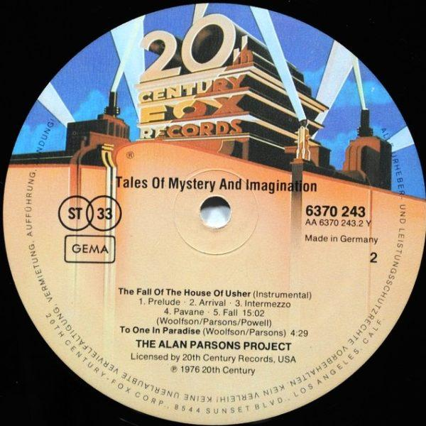 Alan Parsons Project – Tales Of Mystery And Imagination