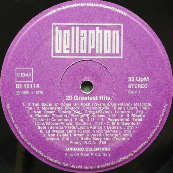 Adriano Celentano – 20 Greatest Hits