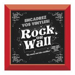 Красная настенная рамка Rock On Wall для LP 12""