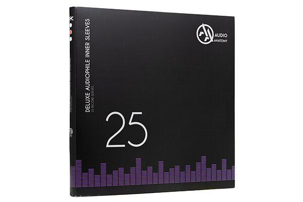 Конверты внутренние «DELUXE» 12″ для виниловых пластинок (черные, 25 штук)