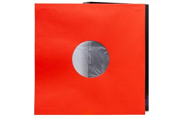 Конверты внутренние «DELUXE» 12″ для виниловых пластинок (красные, 25 штук)