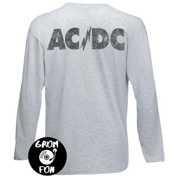 Футболка длинный рукав AC/DC 74 Jailbreak меланжевая